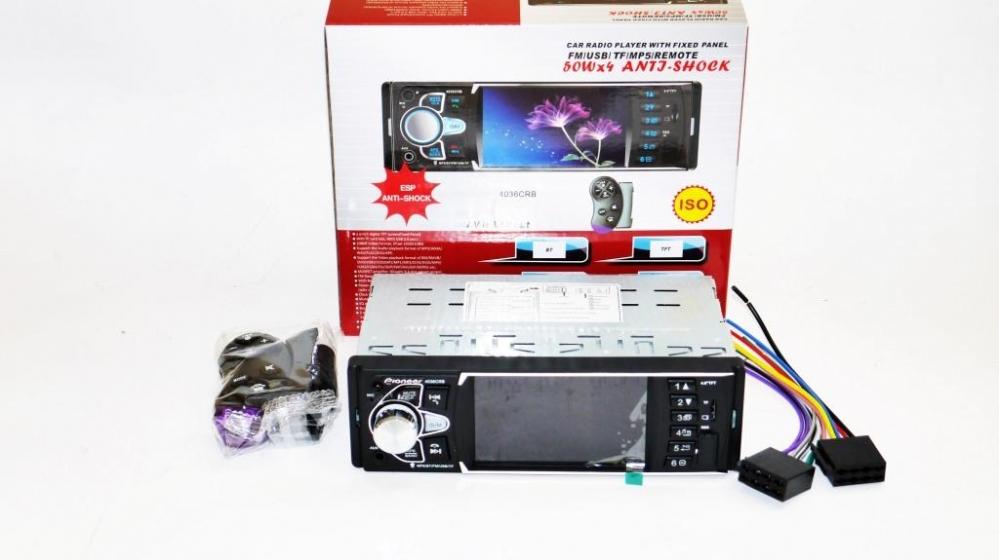 Pioneer 4036 ISO  - экран 4, 1''+ DIVX + MP3 + USB + SD + BLUETOOTH