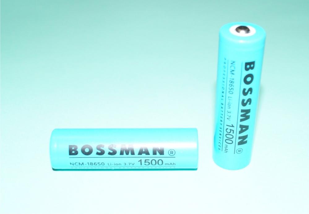 Аккумулятор Bossman,    NCM-18650,    3,   7V,    1500mAh,    оригинал