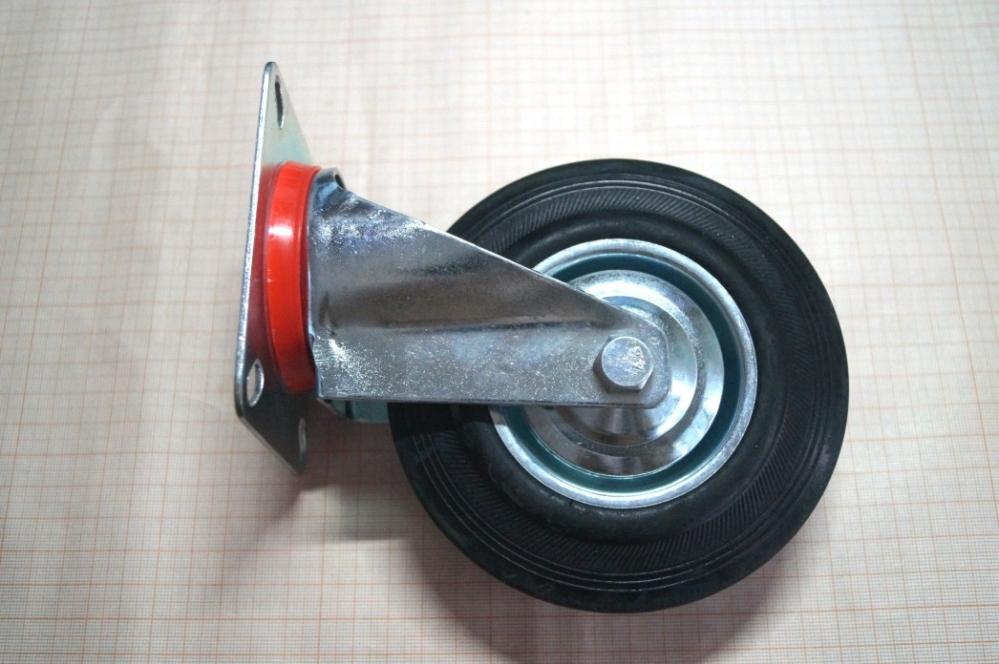 Колеса для тележек (тачек)     125 мм,     поворотные