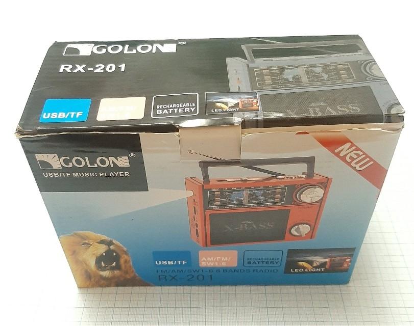 Радиоприемник MP3,   FM,   AM,   SW,   RX-201 с фонариком