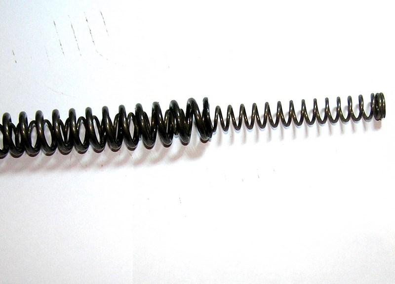 Подвійна посилена пружина для пневматики ІЖ-38 + манжета + перепуск.
