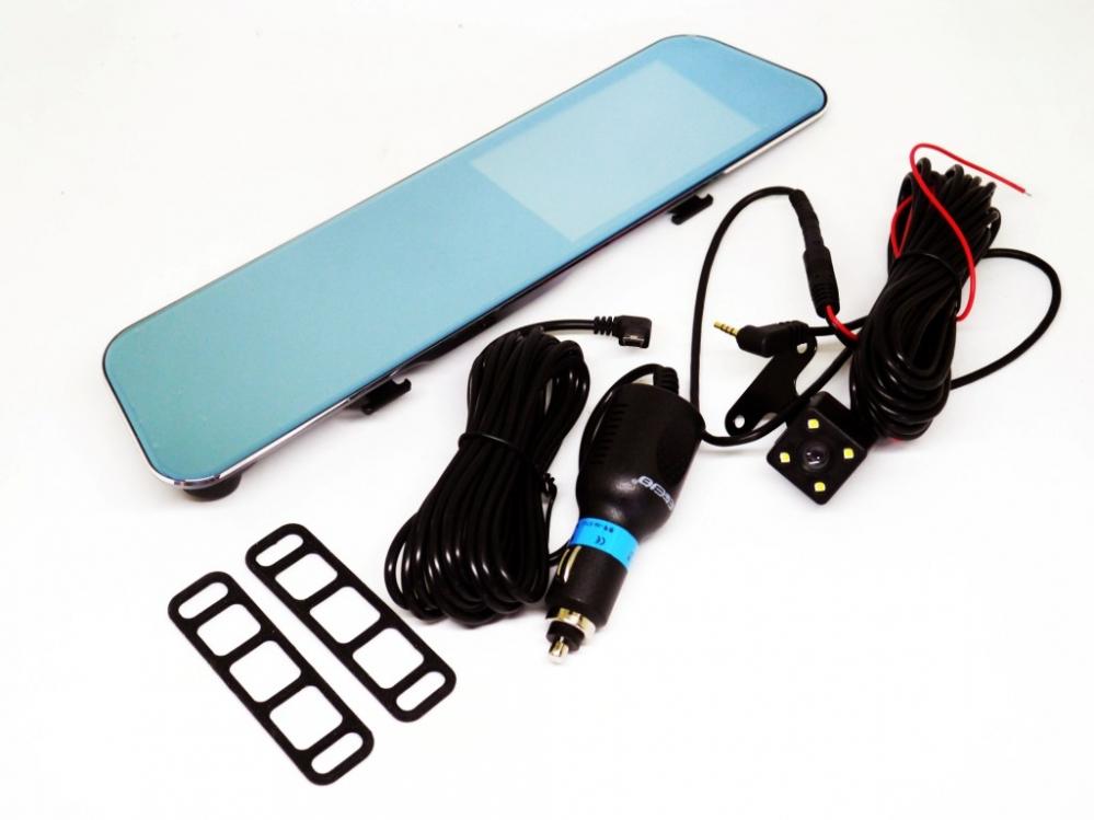 Зеркало видеорегистратор DVR A29 с двумя камерами touchscreen HD1080