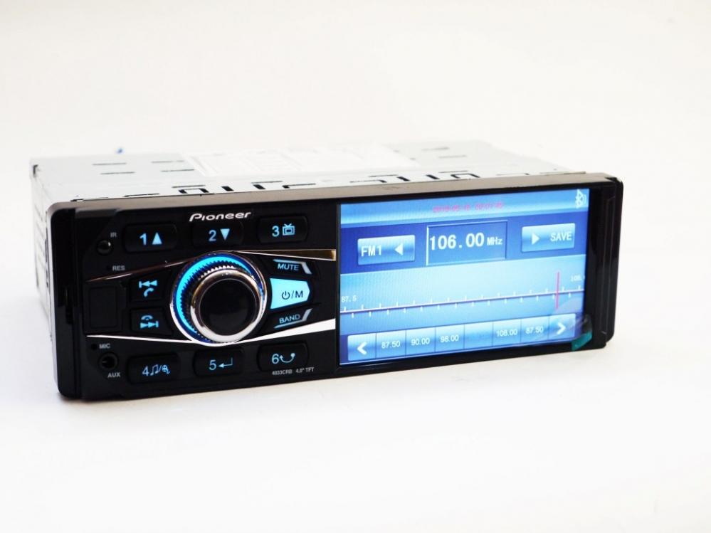 Автомагнитола  Pioneer 4033 ISO  - экран 4,  1'',   DIVX,    MP3,    U